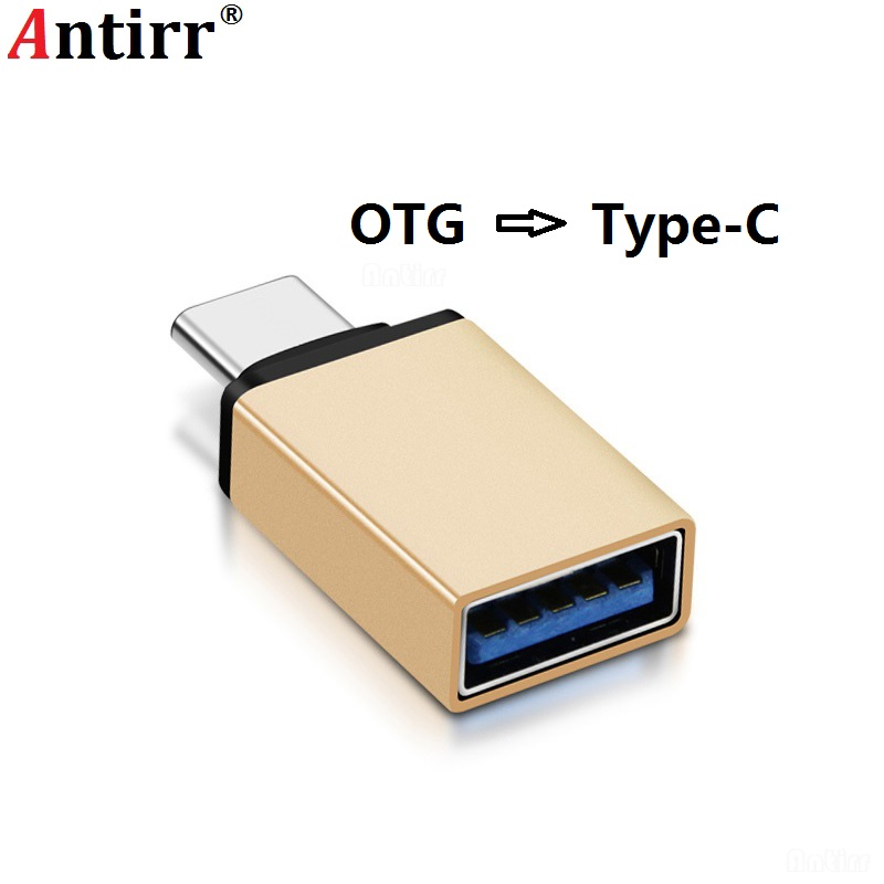 USB 3.1 Type C to USB 3.0 ConverterAntirr USB Type-C OTG Adapter for Chromebook Macbook Huawei Xiaomi MI A1 5X 5S Plus 6P LG G5