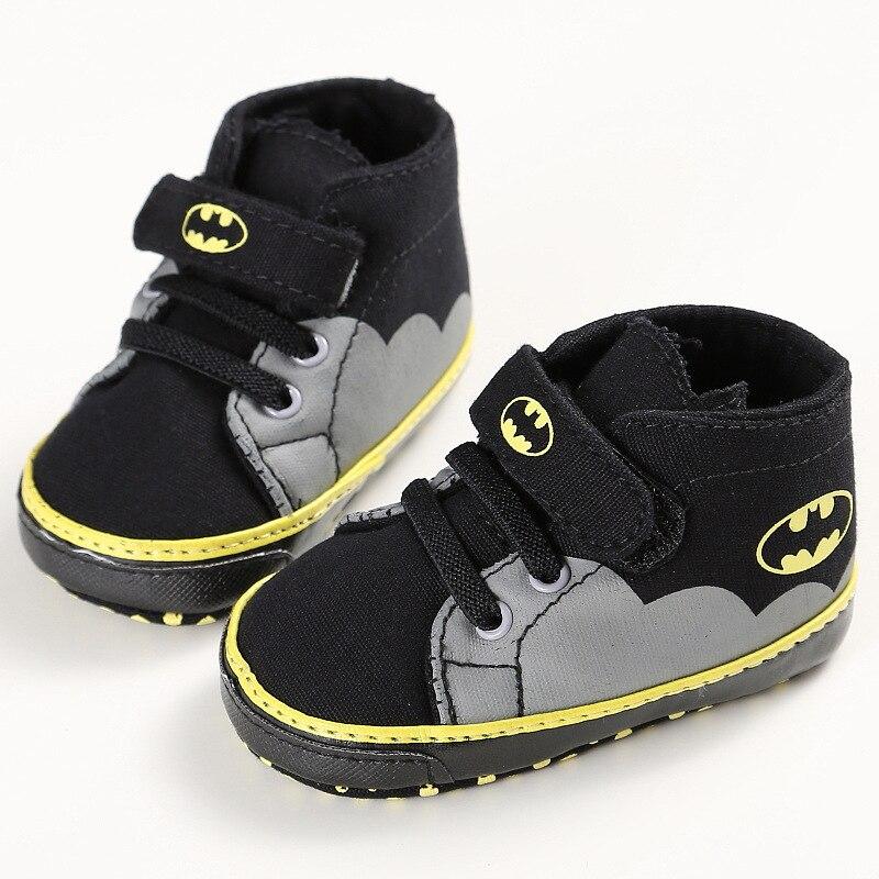 Romirus/Модная одежда для детей, Детская мода Обувь для мальчиков Обувь для девочек малышей мультфильм Бэтмен холст детская обувь Повседневное Спортивная обувь кроватки Babe Обувь для малышей От 0 до 1 года