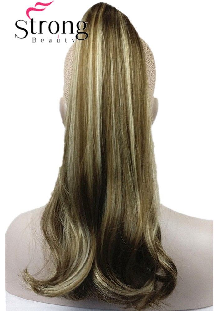 StrongBeauty Brun Faits Marquants Lady Clip En Queue de Cheval Queue de Poney Extension de Cheveux Griffe Sur Le Morceau De Cheveux Droite beaucoup COULEUR CHOIX