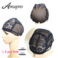 Amapro Products Wig Cap For Making Wigs With Adjustable Strap On The Back Weaving Cap Size S/M/L Glueless Black Wig Caps 1PCS