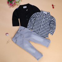 2017 New Spring Autumn Toddler Baby Boy Formal Clothing Fashion Sets Newest Boys Clothes Suit 3PCS