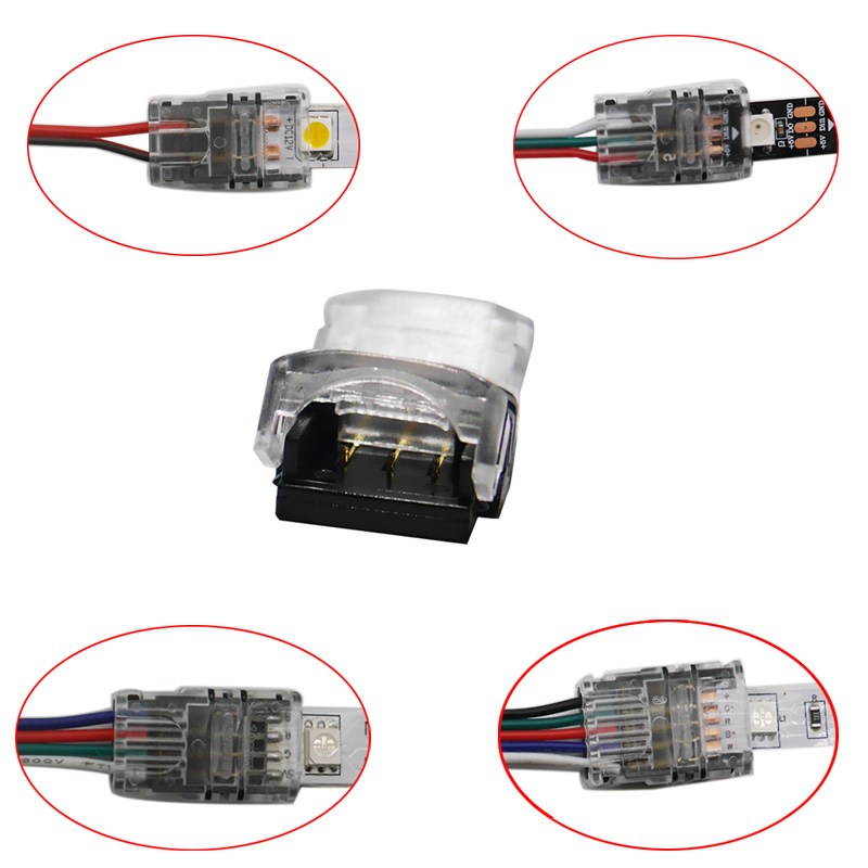 5pcs/lot 2pin 3pin 4pin 5pin LED Strip Connector for 3528 5050 led Strip to Wire/Strip Connection Use Terminals cable