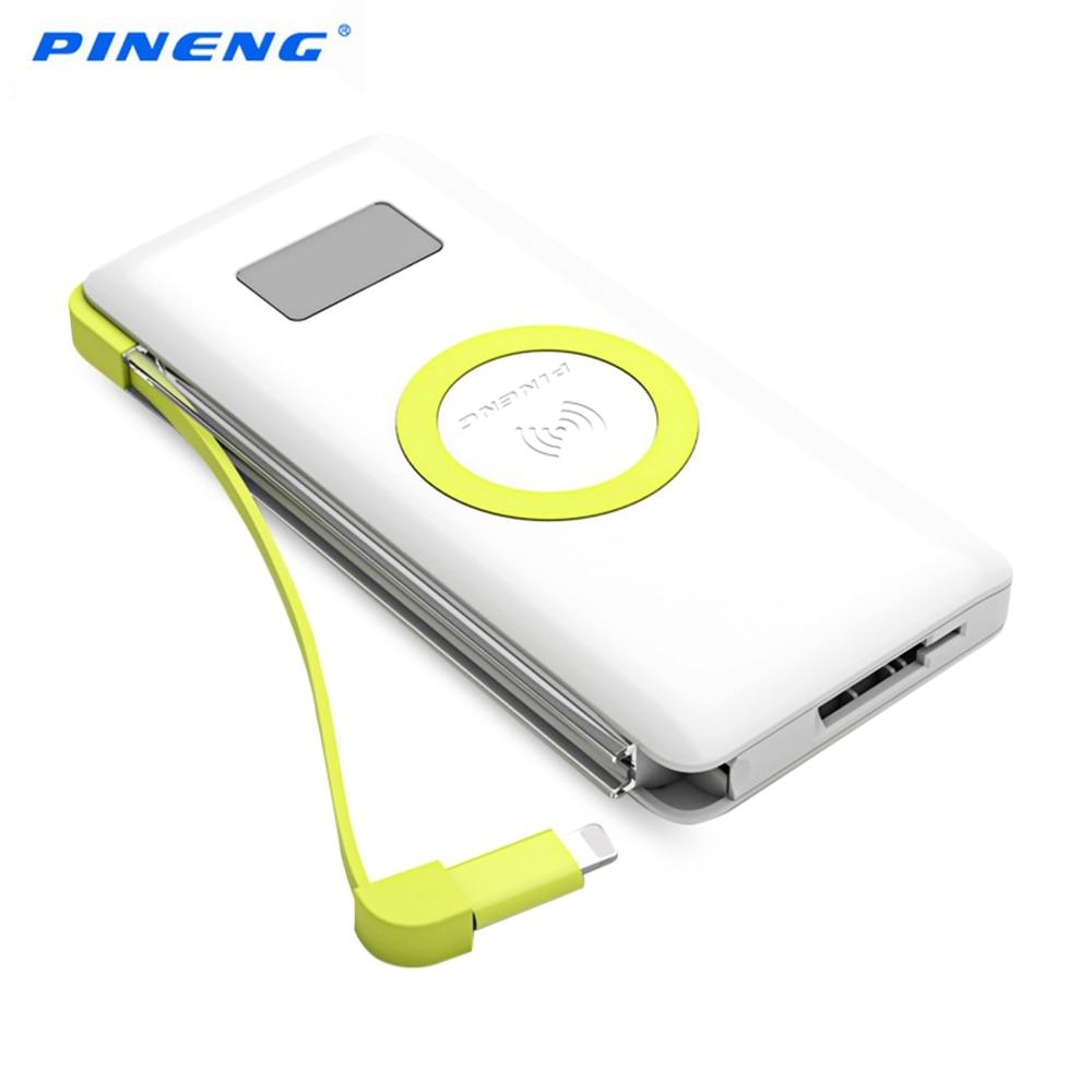 Original New PINENG PN 888 Qi 2 in 1 Wireless Charger 10000mAh Power Bank Li polymer