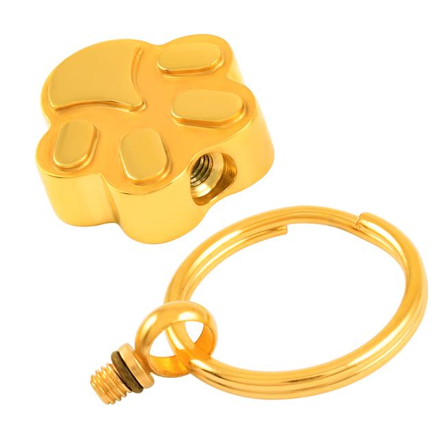Gold Paw Keyring