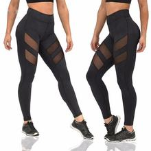 Yfashion Women Gauze Leggings Sexy Pants High-Waist Slim Fit Sports