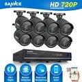 SANNCE HD 8CH 720 P ВИДЕОНАБЛЮДЕНИЯ Системы Безопасности 8 ШТ. 1250TVL ИК открытый АХД 720 P Безопасности Камеры Видеонаблюдения 8 канала DVR комплект