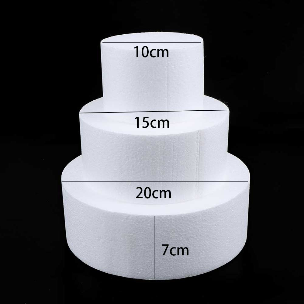HOT!!!Kitchen Accessories Cake Dummy Modelling Sugar Craft Party DIY Model Cake Round Foam Mould Polystyrene Changed Good Pack