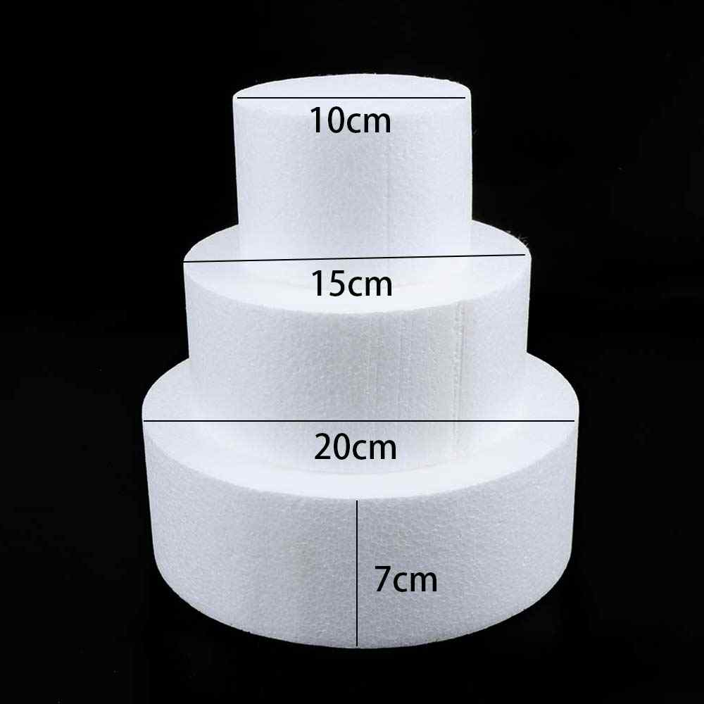 Kitchen Accessories Cake Dummy Modelling Sugar craft Party DIY Model Cake Round Foam Mould Polystyrene Changed Good Pack