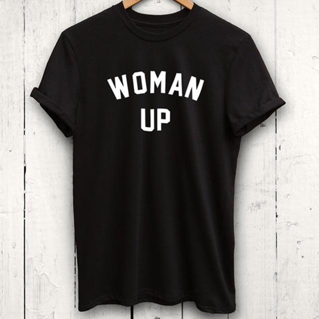 0219a6a9 EnjoytheSpirit Woman Up T Shirt Feminist Tshirt Funny Workout Shirt Womens  Tshirt Loose Fit Style Positive