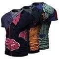 2016 Homens Camisa 3D T Hatake Kakashi Uzumaki Naruto Uchiha Sasuke t-shirt Trajes Cosplay Dia Das Bruxas