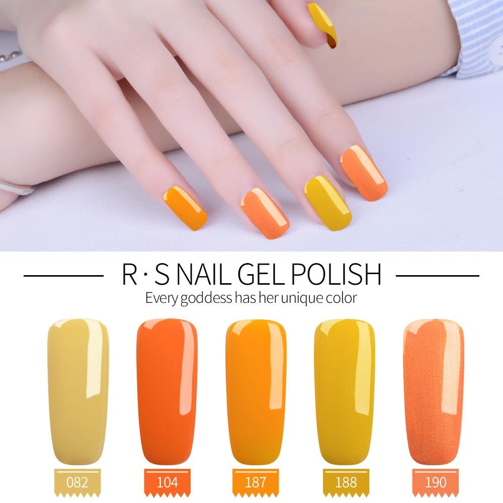 Rs Nail: RS Nail Uv Color Gel Nail Polish Yellow Orange Serie Gel