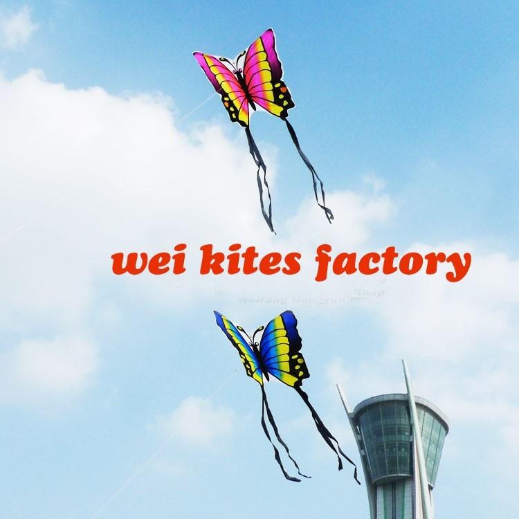 Высокое качество бабочки влюбленных 10 шт./партия нейлоновая ткань Рипстоп с ручкой линии пары легко контролировать воздушные змеи Wei