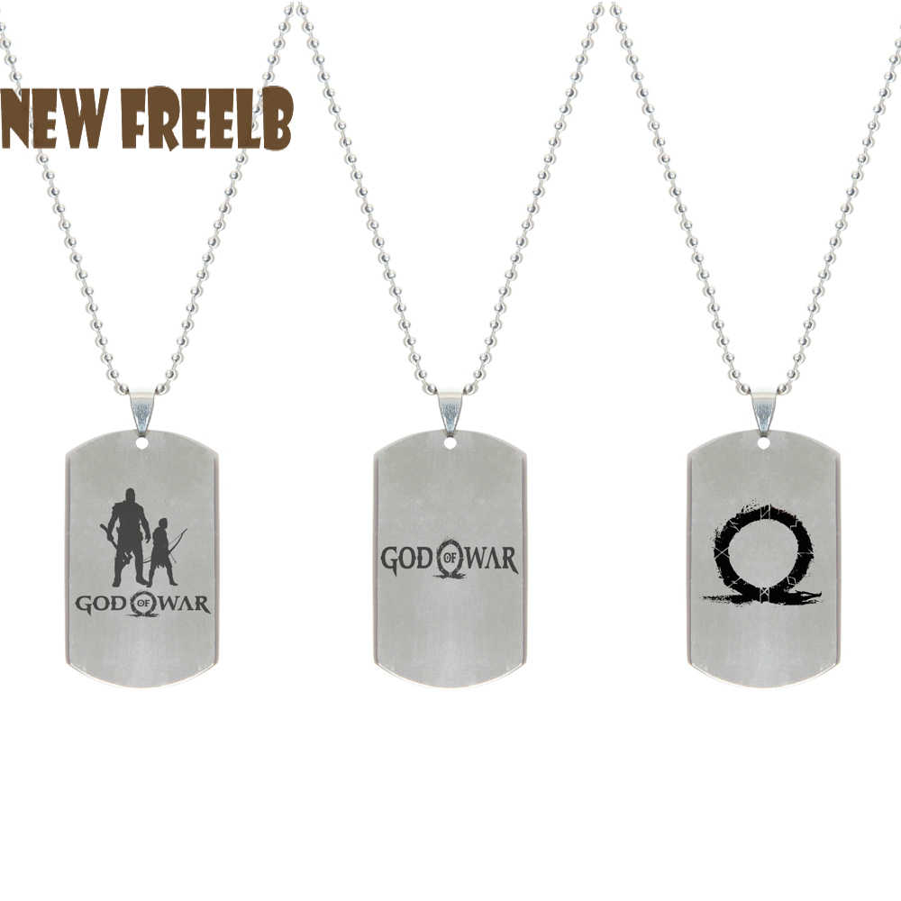New Hot PS4 Game God Of War Logo Long Necklaces Stainless Steel Dog Tag Pendant Fashion Jewelry for Women and Men fans 3 Styles