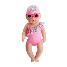Zapf babies born 3 piece Th clothes + glasses baby clothes for 43 cm, the child's best birthday present (only sell clothes) f181