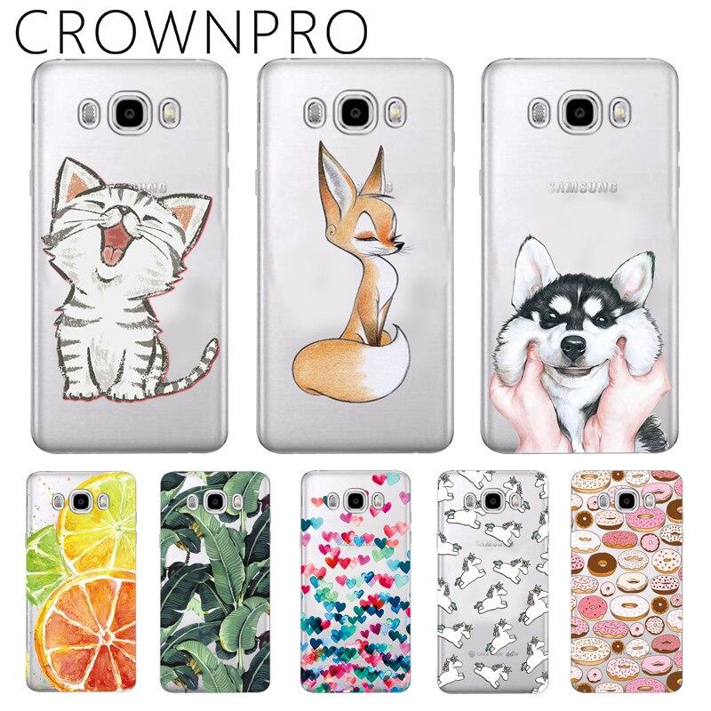 CROWNPRO Silicone Cases For Samsung J5 6 2016 J510 J510F J5100 Case Soft TPU