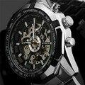 2016 Novo Vencedor Relógio Do Esporte de Luxo Homens Relógio Automático Esqueleto Relógio Mecânico Militar Relogio Masculino Relojes Montre Relógio Dos Homens