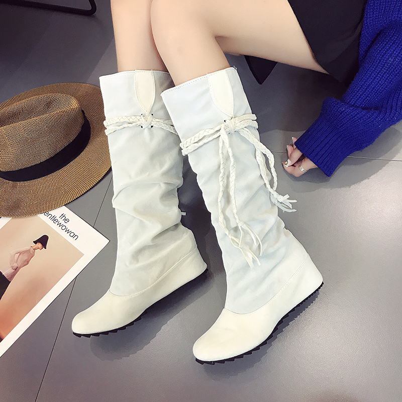 Fashion Women Boots High Heels Wowen Spring Autumn Tassels Shoes Girls Fringe Top Boots  ...