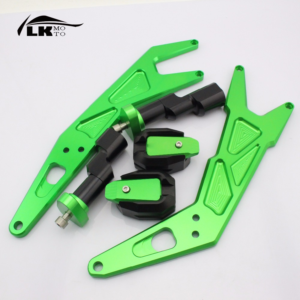 Motorcycle parts Accessories motorcycle CNC aluminum frame slider/falling protector for KAWASAKI ninja300 ninja 300 2013-2016 custom designed repsol fairings for kawasaki ninja300 2013 with free shipping