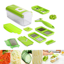 QuickDone 12 in1 Multifunctional Mandoline Nicer Dicer Plus Stainless Steel Blades Vegetable Peeler Slicer Grater BOX