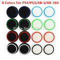 4 pcs Rubber Silicone Analog Thumb Stick Grips Cap Cover for Playstation PS 4 PS3 Controller Thumbsticks Caps for Xbox 360 One