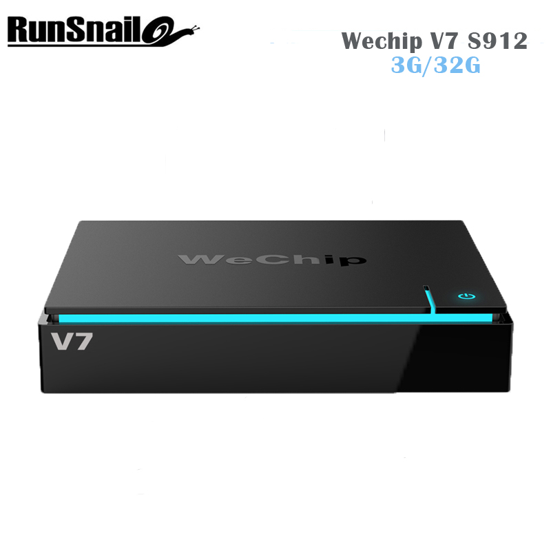 Newest Wechip V7 Android 7.0 TV Box S912 KODI 17.3 3G 32G TV BOX Wireless 2.4G+5G Bluetooth With WIFI Set TV BOX PK H96 PRO+