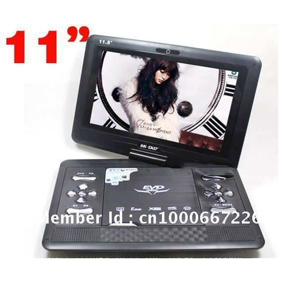 "Multi High quality Portable 11"" TV,DVD Player,usb,car charger,mp3,mp4,av cable,earphones,game controller,GIFT + Free shipping"