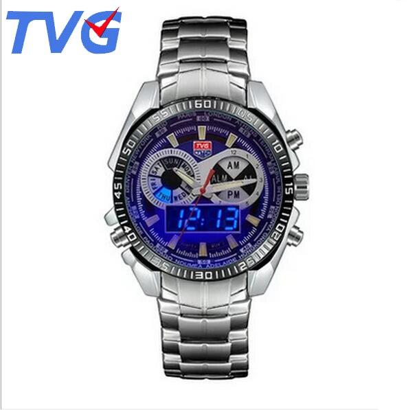 2eb1bffe34b Relógios Dos Homens de esportes Relógios de Marca hot TVG Atualização  Digital LED Militar Relógios Em Aço Inoxidável Relógio Masculino Relogio  masculino 568 ...