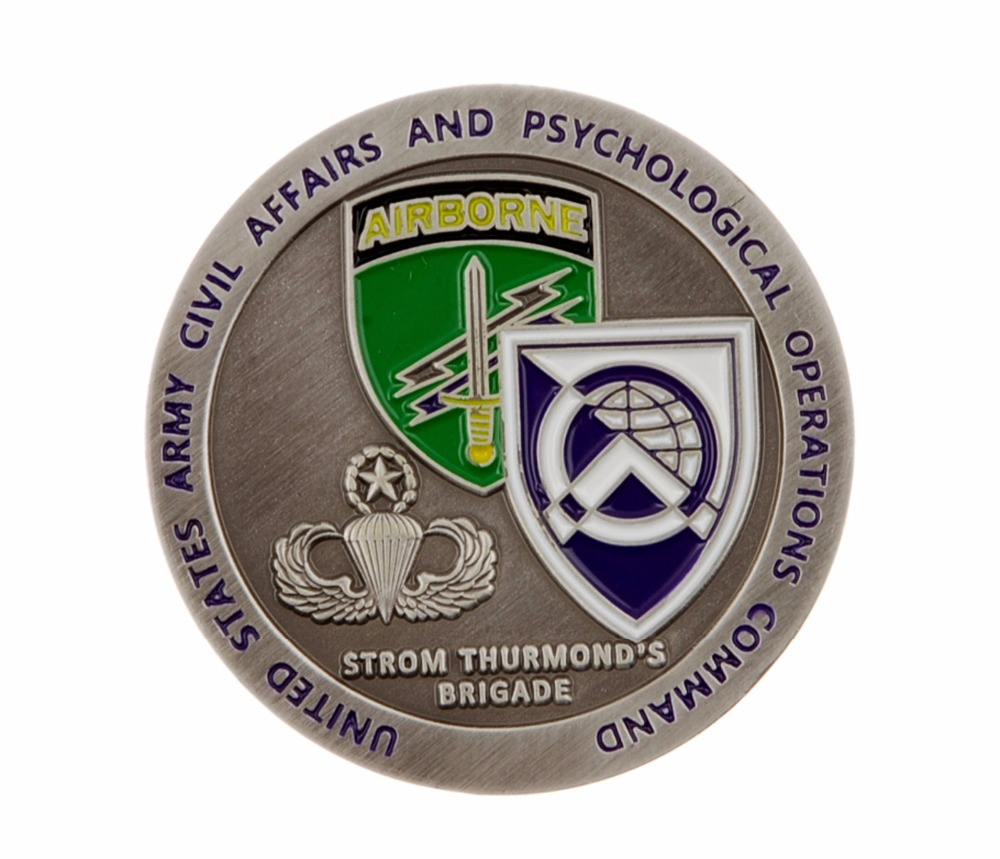 US ARMY CIVIL AFFAIRS PSYCHOLOGICAL OPERATIONS CHALLENGE COIN