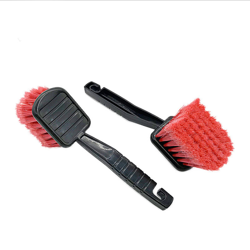 Image 3 - 1pc Car Wash Wheel Brush Car Cleaning Tool Detailing Red Super Hard Brush Car Care Products 2019 Hot Sale-in Sponges, Cloths & Brushes from Automobiles & Motorcycles