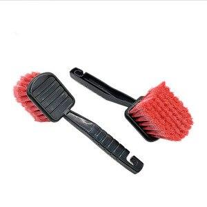 Image 3 - 1pc escova da roda da lavagem de carro ferramenta de limpeza do carro detalhando vermelho super duro escova cuidados com o carro produtos 2019 venda quente