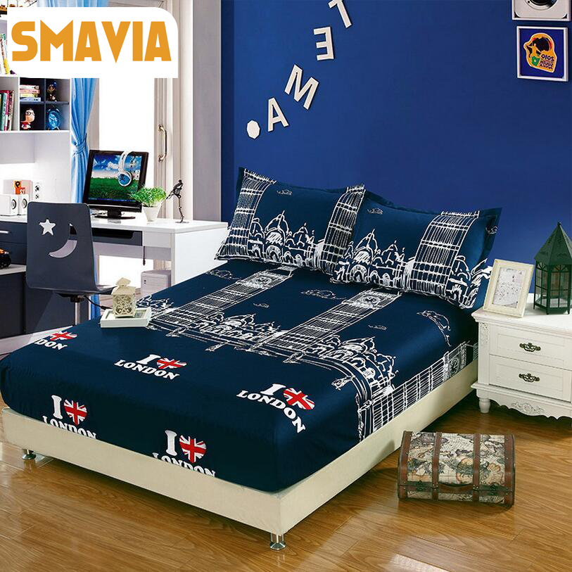 Smavia bed fitted sheet pillowcase 3pcs bed sheet 120 for Beds 120 x 200