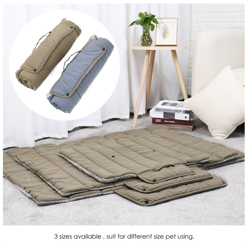 Foldable Dogs Pets Mat for Travel Outdoors Kat Hundeseng Puppy Blød Varm Tykkelse Travel Mat Til Hund Kat Easy Pude Cama Perro