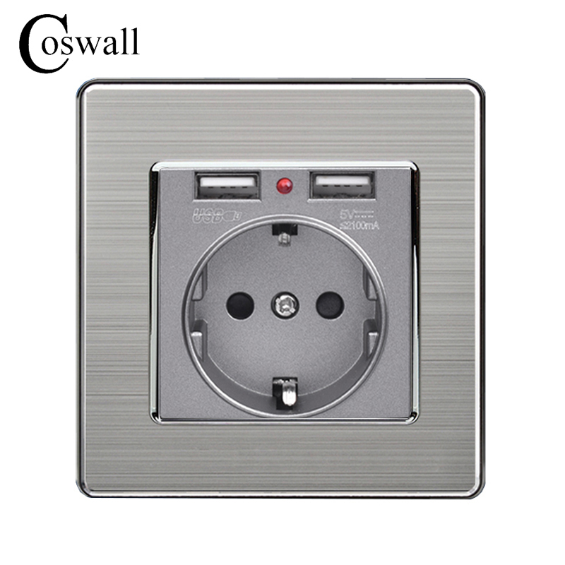 coswall-dual-usb-charging-port-5v-21a-led-indicator-16a-wall-eu-power-socket-outlet-stainless-steel-panel-grey-black-white-gold