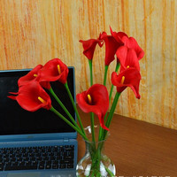 Wholesale 10pcs Emulated Fancy Mini 30cm Of Horse Shoe Lotus Single Branch Yiwu Decorative Flower Fake