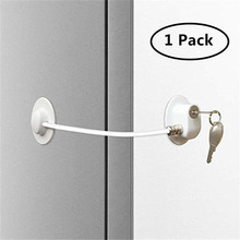 1 pc Security Refrigerator Lock Baby Safety Lock Protection Cable Drawer Door Cabinet Cupboard Toilet  Lock Plastic Locks Straps 1 pc plastic locks protection children kids from drawer door cabinet cupboard lock child baby safety lock products accessories