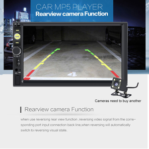 Image 4 - Centrale Multimidia 2Din 2 Din 7 Touch Screen Auto DVR Voor Achter Camera Bluetooth Radio Music Movie Player Multimedia autoradio