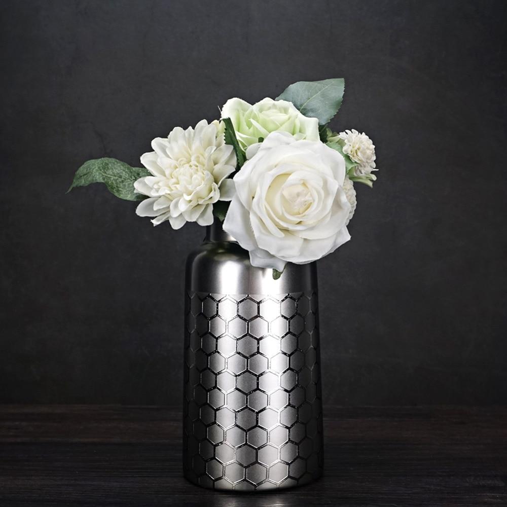 Fresh Mini Ceramic Small Vase Home Decor Gift Ideas And: 6 Inch,8 Inch Silver Ceramic Flower Vase Home Decor Vase