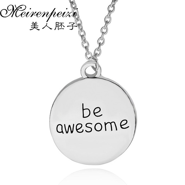 Awesome necklace stamped with inspirational pendant necklace quote awesome necklace stamped with inspirational pendant necklace quote engraved bar necklace personalized jewelry gift for friends mozeypictures Choice Image