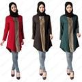 Más Tamaño Mujeres Top Ropa de La Muchacha Ropa de Manga Larga 3 Colores de La Camisa Trajes Étnicos de Adoración Islámica Árabe Vestido de Adultos