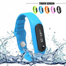 2016 Touch Screen Smart Band Wristband E06 Bracelet Fitness Wearable Tracker Waterproof IP67 Bluetooth Watch for Android