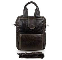 JMD 100% Genuine Leather Mens Handbag Small Messenger Bag # 7266J