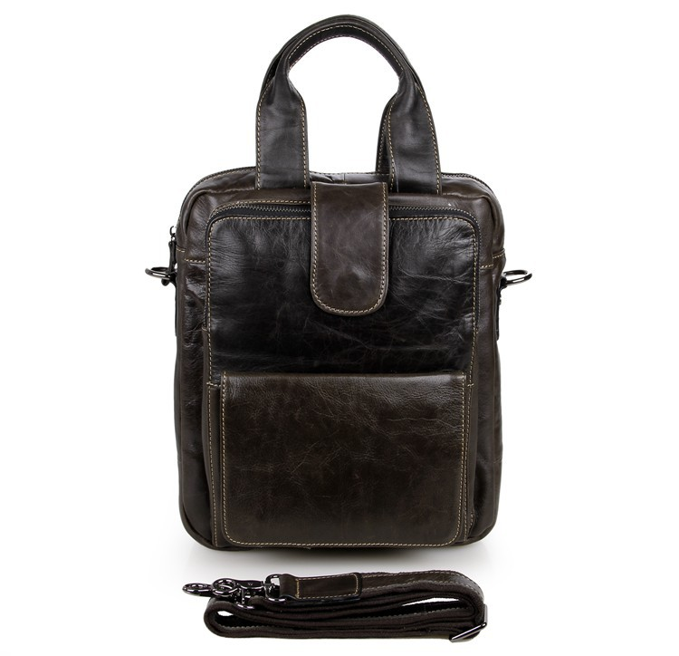 JMD 100% Genuine Leather Genuine Leather Mens Handbag Small Messenger Bag 7266J