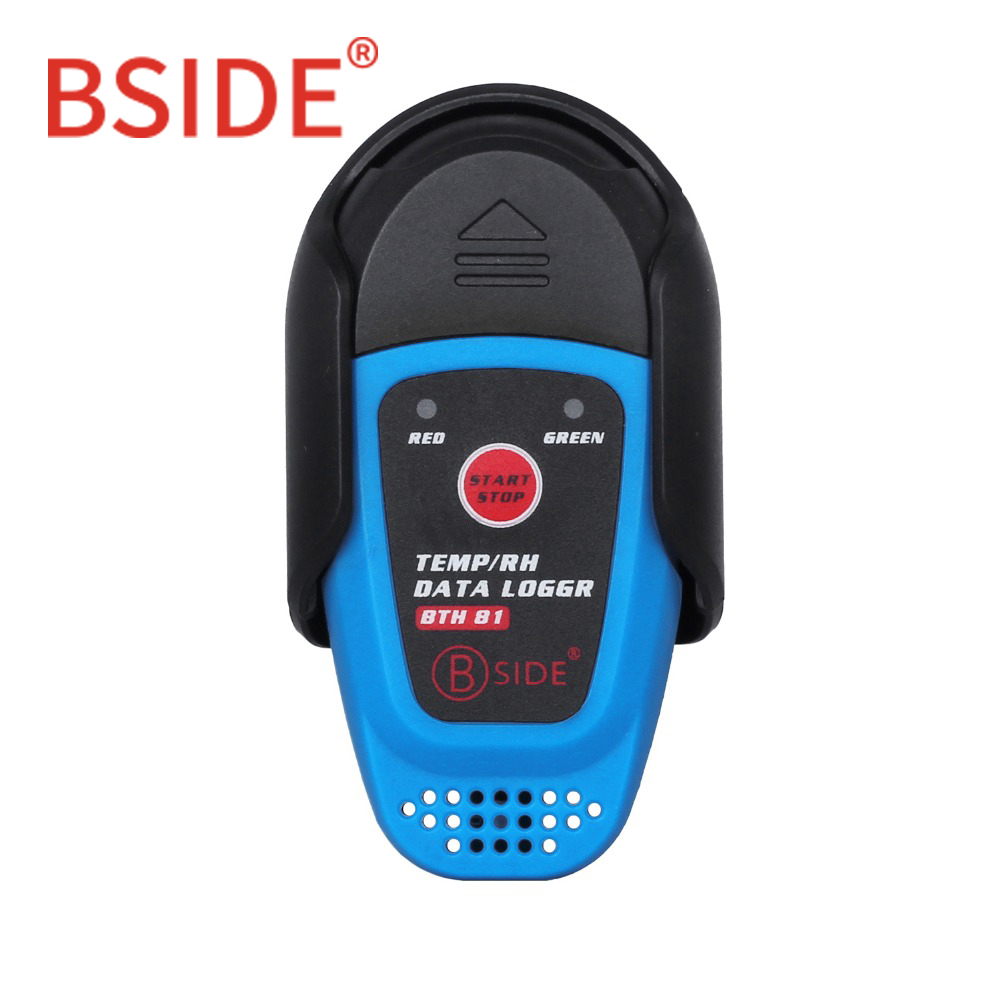 BSIDE BTH81 Relative Humidity Temperature Recorder TEMP/RH Data Logger Thermometer Hygrometer Moisture Meter with USB elitech temperature and humidity wifi data logger temp and humidity wireless remote thermometer recorder for refrigerator