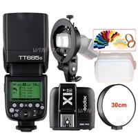 Godox TT685S 2.4G HSS TTL Camera Flash + X1T S Trigger + Bowens Bracket for Sony A77II A7RII A7R A99 A58 A6500 A6000 A6300