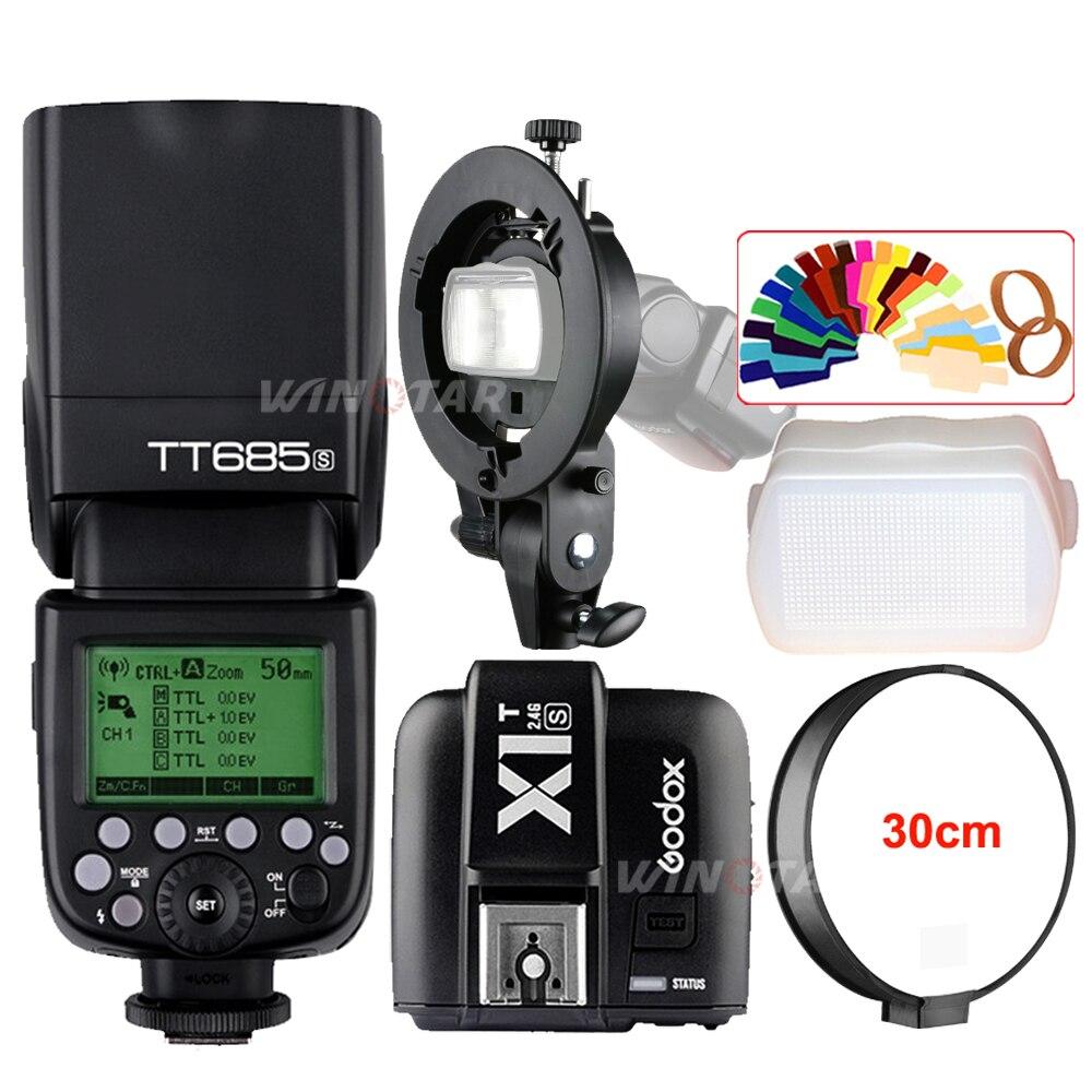 Godox TT685S 2.4G HSS TTL Flash Della Fotocamera + X1T-S Trigger + Staffa Bowens per Sony A77II A7RII A7R A99 A58 A6000 A6500 A6300
