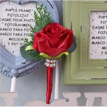 6 шт. стиль красный розовый белый розовый корсаж цветы свадебные аксессуары банкетные вечерние деловые торжественные цветы