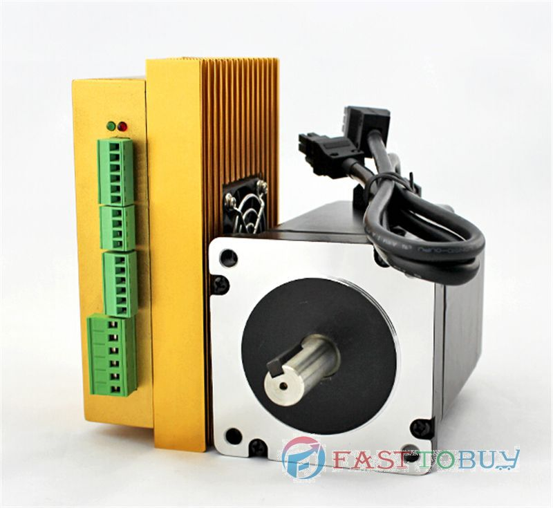 Hybrid Closed-Loop Stepper Motor & Drive Kit 20-70VAC/30~100VDC 2Phase 6A 4.5NM NEMA34 86mm Cutting Machine LC86H280+LCDA86H