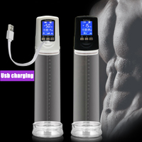 Male USB Rechargeable Male Cock Pump Enlarger,LED Automatic Enlarger Male Dick Enhancement Superior Massage Care