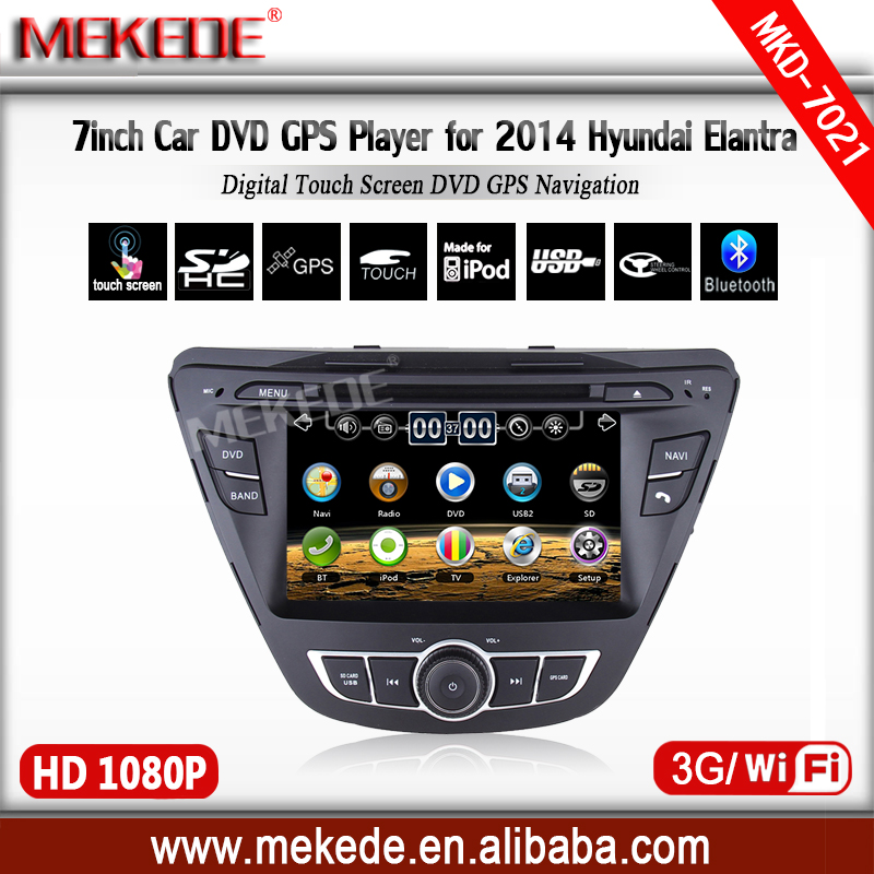 2din 7 touch screen car video navigator player for HYUNDAI ELANTRA 2014 with bt font b
