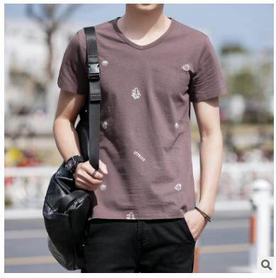 2017 New Solid color T Shirt Mens White T-shirts Summer Skateboard Tee Boy Hip hop Skate Tshirt Tops WQ-30
